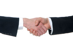 Shaking hands. Businessman shaking hands, over a white background Stock Image