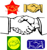 Shaking hands. Set of useful graphics, all are vector, ready to cut by plotter for signs Royalty Free Stock Photos