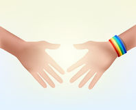 Shaking hands as a sign of respect Stock Image