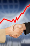 Shaking hands in bussines Stock Photos