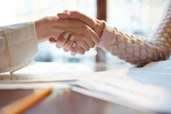 Shaking Hands on Deal Royalty Free Stock Images