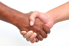Shaking hands,isolated. On white background royalty free stock photography