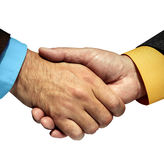 Shaking hands. Isolated on white background Royalty Free Stock Images