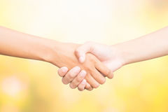 Shaking hands of two male people Stock Images