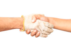 Shaking hands of two male people. Stock Photos