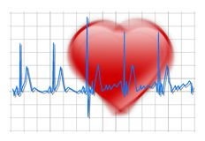 Shaking Heart beat stock photography