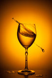 Shaking wineglass Royalty Free Stock Images