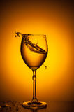 Shaking wineglass Stock Images