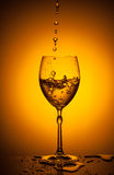 Shaking wineglass Royalty Free Stock Photo