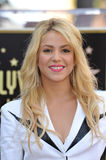 Shakira,. Columbian singer Shakira on Hollywood Boulevard where she was honored with the 2,454th star on the Hollywood Walk of Fame. November 8, 2011  Los Royalty Free Stock Images