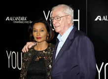 Shakira Caine and Michael Caine Royalty Free Stock Photos