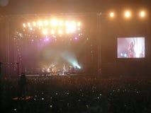 Shakira Concert in Abu Dhabi für 2010 neues Jahr Stockfotografie