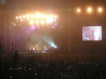 Shakira Concert in Abu Dhabi 2010 Nieuwjaar Stock Fotografie