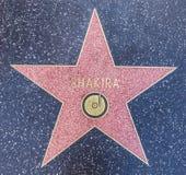 Shakiras stjärna i Hollywood royaltyfri bild