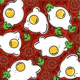 Shakshuka pattern eggs and more royalty free illustration