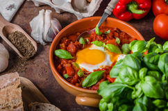 Shakshuka simple and delicious Stock Images