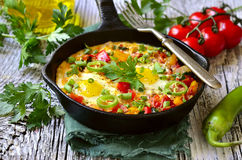 Shakshuka - traditional dish of israeli cuisine. Stock Images