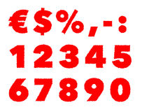 Shaky numbers Royalty Free Stock Photo