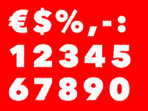 Shaky numbers Stock Photography