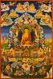 菩萨shakyamuni显示tangka 免版税库存照片