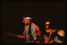 Shalamar Band playing live in UK in late 1970s early 1980s Royalty Free Stock Photo