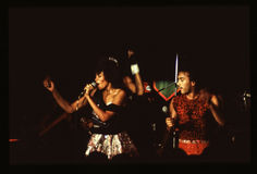 Shalamar Band playing live in UK in late 1970s early 1980s Royalty Free Stock Photography