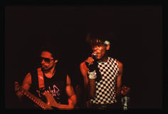 Shalamar Band playing live in UK in late 1970s early 1980s Stock Photos