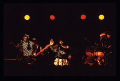 Shalamar Band playing live in UK in late 1970s early 1980s Royalty Free Stock Photos