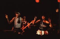 Shalamar musikband som direkt spelar i UK i tidig 80-tal för sen 70-tal Royaltyfria Bilder