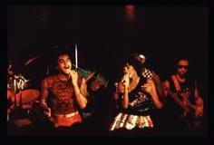 Shalamar musikband som direkt spelar i UK i tidig 80-tal för sen 70-tal Arkivbild