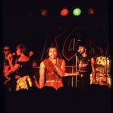 Shalamar musikband som direkt spelar i UK i tidig 80-tal för sen 70-tal Fotografering för Bildbyråer