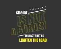 Shalat no es una carga el hecho de que él aligera la carga stock de ilustración