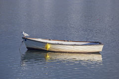 Shaldon boat gurl Royalty Free Stock Photo