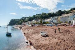 Shaldon strand Royaltyfri Fotografi