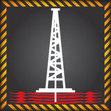 Shale Gas Label - Anti Fracking Royalty Free Stock Images