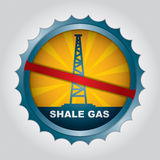 Shale gas label Stock Photos