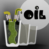 Shale oil concept. Oil cocktail metaphor Stock Images
