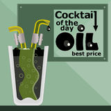 Shale oil concept. Oil cocktail metaphor Royalty Free Stock Image