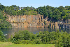 Shale quarry at Fougeres in France Stock Photos