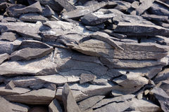 Shale Rock Fragments Royalty Free Stock Images