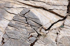 Shale rock outdoors as background Royalty Free Stock Image