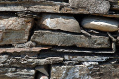 Shale Stone Wall Royalty Free Stock Photos