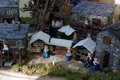 Shale village miniature Royalty Free Stock Photos