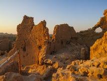Shali Fortress in Siwa at Sunrise Stock Photo
