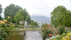 Shalimar Bagh, Mughal ogród, Styczeń 10 2019: Wśrodku widoku Shalimar Bagh horticulture, także dzwoniący obraz royalty free
