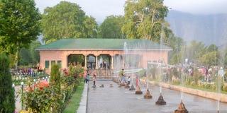 Shalimar Bagh, Mughal ogród, Styczeń 10 2019: Wśrodku widoku Shalimar Bagh horticulture, także dzwoniący zdjęcia royalty free