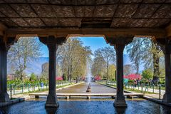 Shalimar Garden, Srinagar, Kashmir stock fotografie