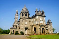 Shalini戈尔哈布尔vilas宫殿在马哈拉施特拉,印度 库存照片