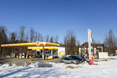 Shall Gas Station located in Zakopane Royalty Free Stock Images