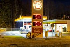 Shall Gas Station in Zakopane Royalty Free Stock Photography